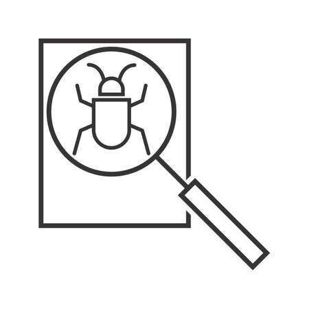 Debugging Line Black Icon Illustration