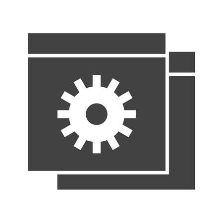 Website Setting Glyph Black Icon