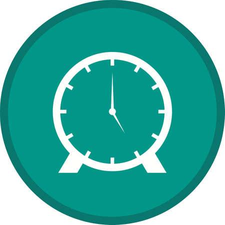 Clock Glyph Multi color Background icon 矢量图像