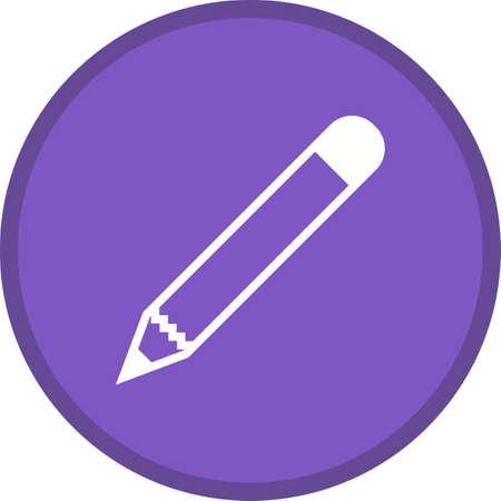 Pencil Glyph Multi color Background