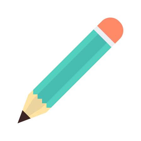 Icona piatta matita Vettoriali
