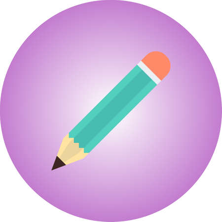 Pencil Flat icon with Gradient Background