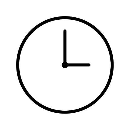 Clock Line Black Icon Illustration