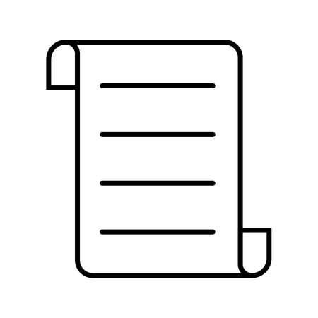 Contract Line Black Icon