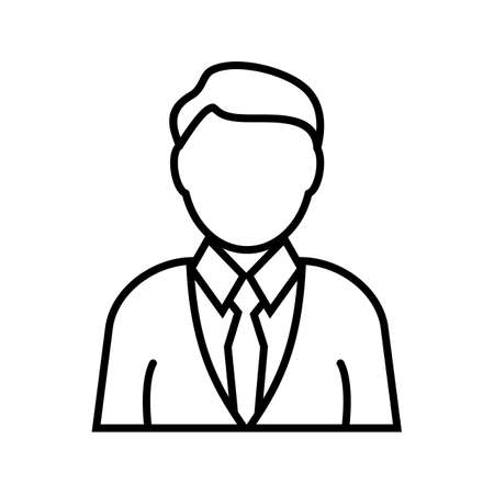 Investor Line Black Icon Illustration