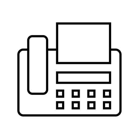 Fax machine Line Black Icon  イラスト・ベクター素材