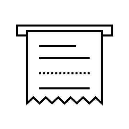 Atm Receipt Line Black Icon
