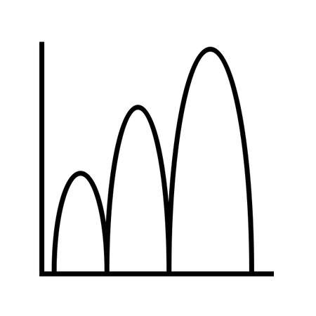 Bell shaped graph Line Black Icon