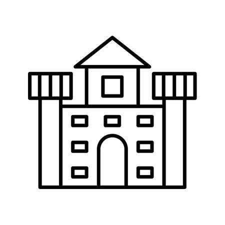 Castle Line Black Icon Imagens - 122053620