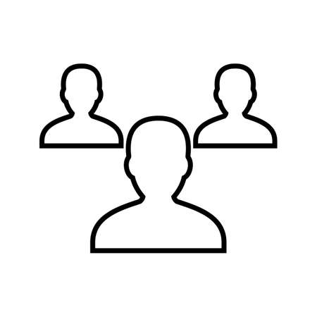 Employes Line Black Icon Ilustrace