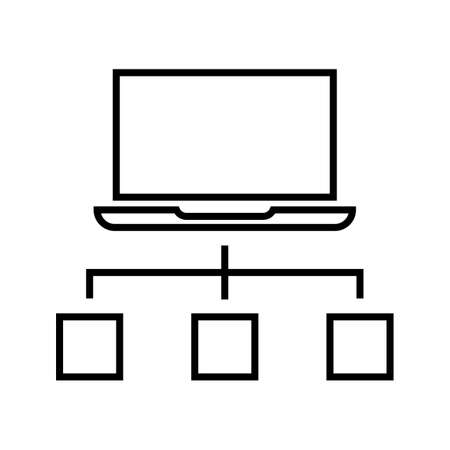 Connection System Connection Line Black Icon