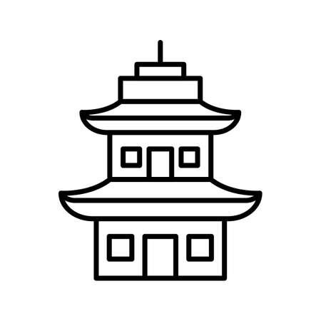 Temple Line Black Icon Ilustração