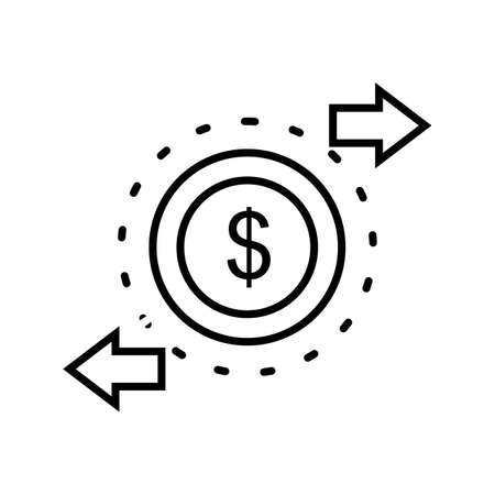 Transaction Line Black Icon