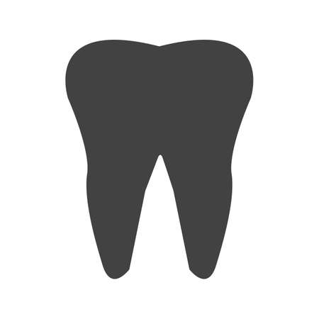 tooth Glyph Black Icon 일러스트
