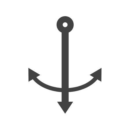 Anchor Glyph Black Icon Ilustração
