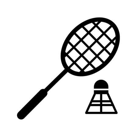 Badminton Glyph Black Icon Imagens - 121467407