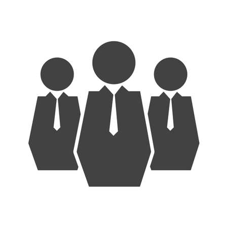 Businessman Glyph Black Icon Ilustração