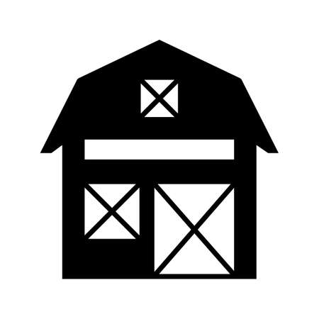 Barn Glyph Black Icon