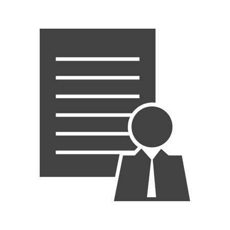 Client profile Glyph Black Icon