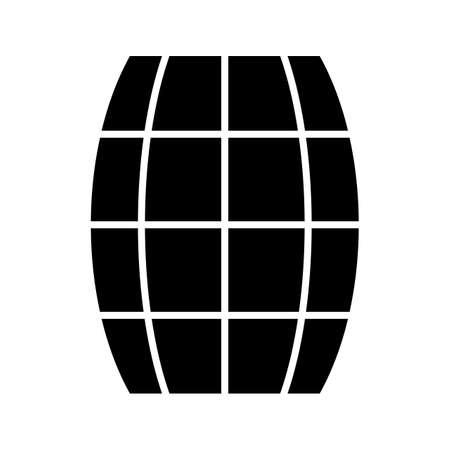 Barrel Glyph Black Icon Imagens - 122953531
