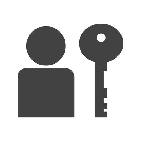 User authentication Glyph Black Icon