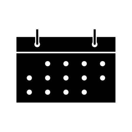 Calendar Glyph Black Icon