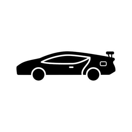 sports car Glyph Black Icon Ilustração