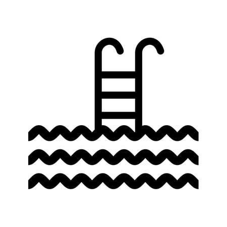 swiiming Glyph Black Icon Illustration
