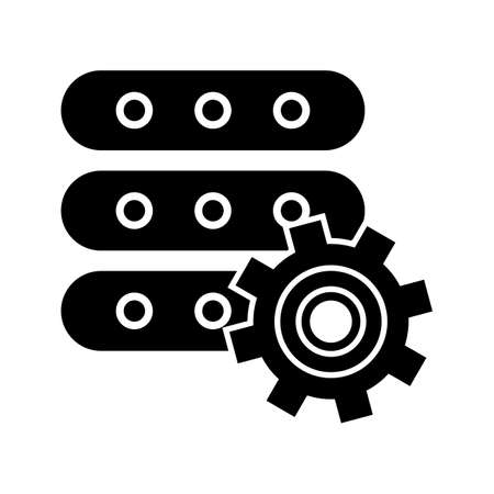 Manage Data Glyph Black Icon