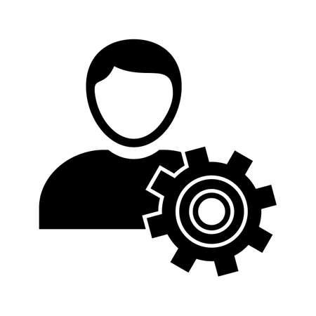 Manage Glyph black icon