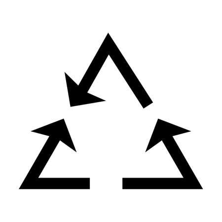 Recycle arrow Glyph Black Icon Imagens - 122953596