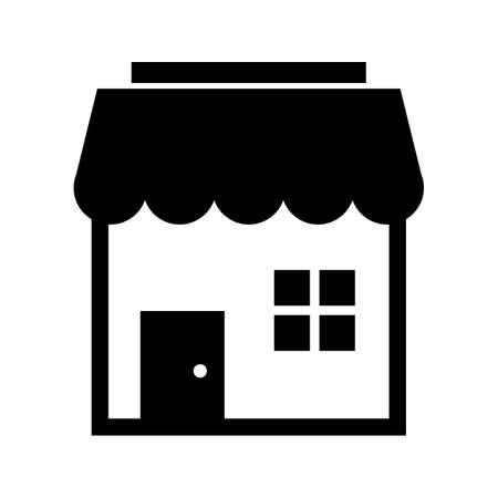 Shop Glyph Black Icon Ilustrace