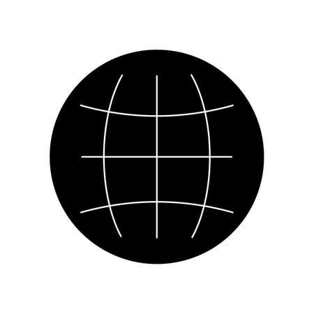 Globe Glyph Black Icon 矢量图像