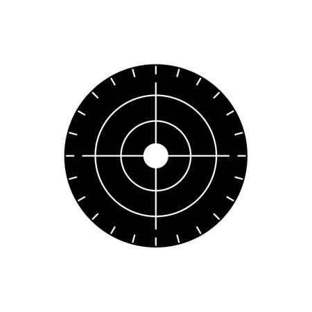 Target Glyph Black Icon 矢量图像