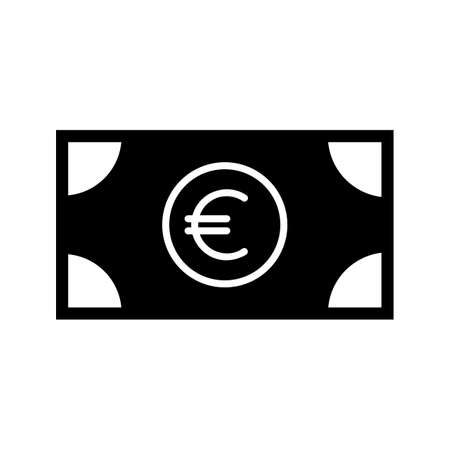 Currency Glyph Black Icon Ilustração