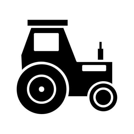Traktor Glyphe Schwarzes Symbol