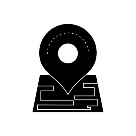Marker Glyph Black Icon