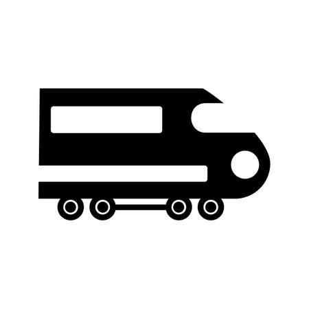 Train Glyph Black Icon