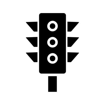 Traffic signal Glyph Black Icon