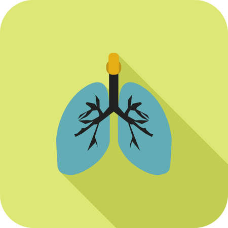 Lungs Flat Long Shadow Icon