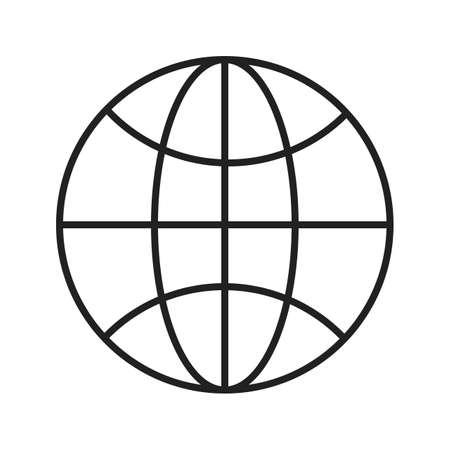 Browser Line Black Icon Stok Fotoğraf - 122053742