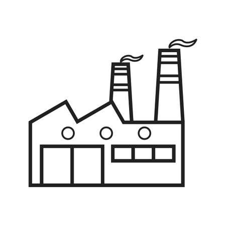Factory Line Black Icon Archivio Fotografico - 122811846