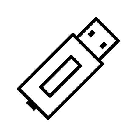 USB Line Black Icon