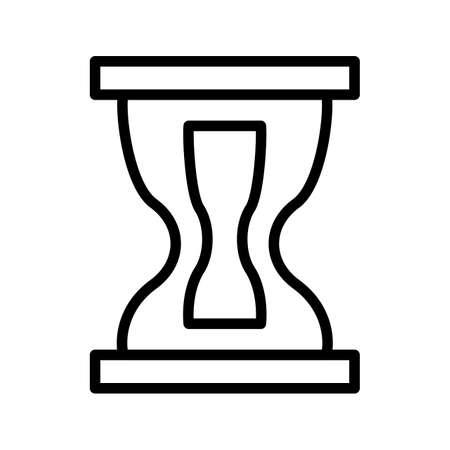 Hourglass Line Black Icon Illustration