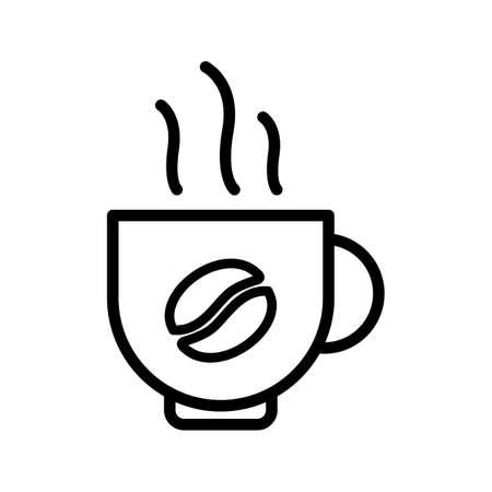 Coffee Line Black Icon Stok Fotoğraf - 122811889