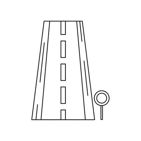 Road Line Black Icon