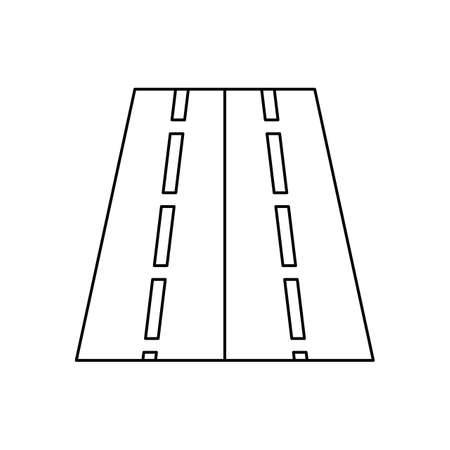 Two way road Line Black Icon