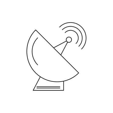 Satellite dish Line Black Icon 免版税图像 - 122811922