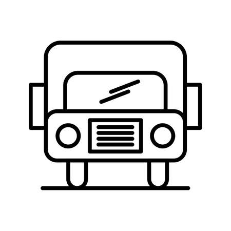 Bus Line Black Icon