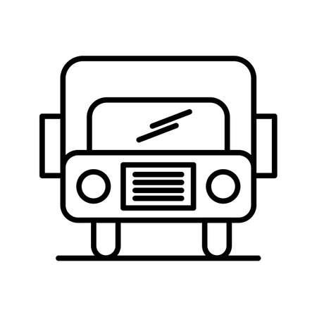 Bus Line Black Icon Ilustração Vetorial